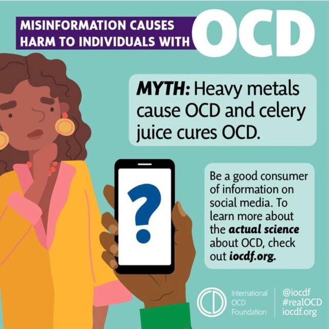 Misinformation is harmful to people who suffer with OCD. Please help us spread the facts about OCD and Exposure and Response Prevention. Thank you to @iocdf for spearheading this educational campaign in response to @medicalmedium #celeryjuice #ocdawareness #ocdrecovery #obsessivecompulsivedisorder #erp