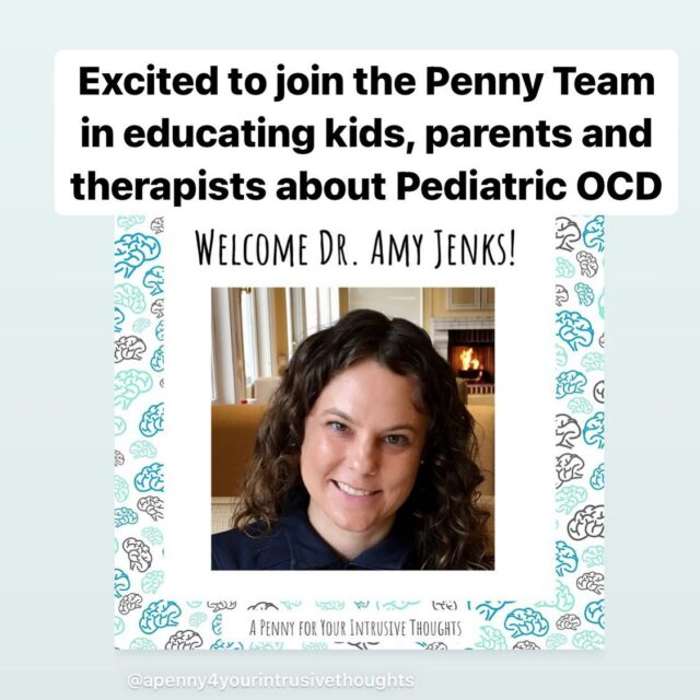 Excited to join the team at @apenny4yourintrusivethoughts as their Advisor and Collaborator! Follow us as we work together to educate kids, parents and therapists about Pediatric OCD.  #ocd#obsessivecompulsivedisorder #ocdhelp#ocdawareness #ocdrecovery#realocd #mentalhealthawareness#therapistsofinstagram#cbt #cognitivebehavioraltherapy #stigma#intrusivethoughts#erp#ocdawareness #exposuretherapy #ocdlife  #cbttherapist#mentalhealthadvocate#ocdtreatment#ocdrelief#ocdsupport #ocdinformation #exposureresponseprevention#ocdadvocate#ocdkids #ocdkidsmovie #ocdkidsareawesome